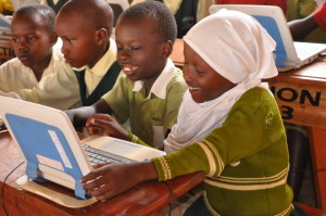 Primary Three Students during a computer lesson